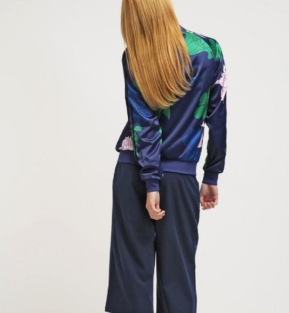 adidas Originals Kurtka Bomber w kwiaty darkblue/green/clpink