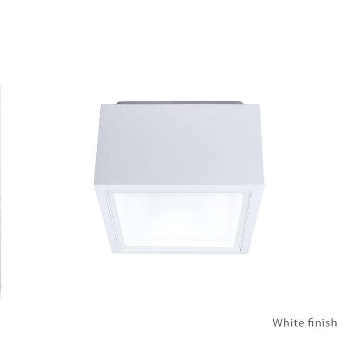"Modern Forms FM-W9200 Bloc 1 Light 6"" Wide LED Outdoor Flush Mount Ceiling Fixtu White Outdoor Lighting Ceiling Fixtures Flush Mount"