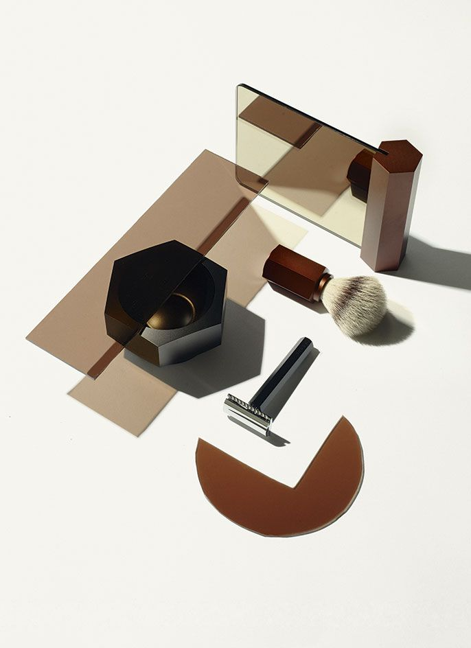 This shaving kit, by designer Mark Braun and German grooming specialist Mühle, incorporates a lathering bowl, shaving mirror, double-edged safety razor and brush with fine silver-tip badger bristles. The pieces feature a matt, anodised coating, while the razor's chrome plating complements its aluminium construction. #wallpaperhandmade