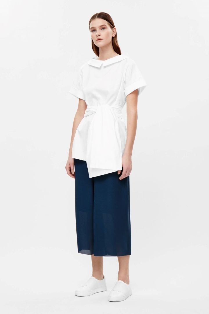 COS | Oversize top with chunky tie