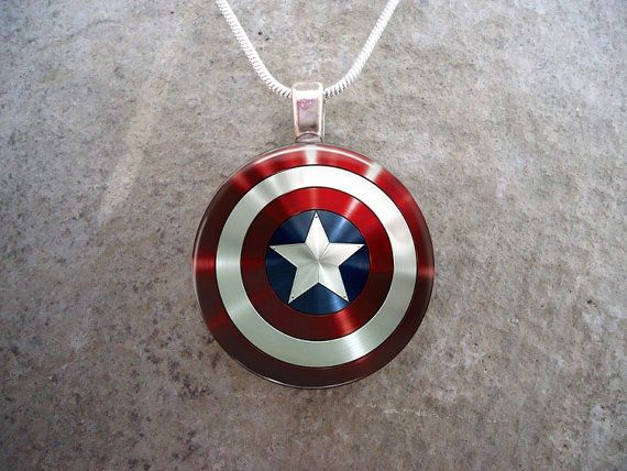 Captain America Jewelry - Marvel Jewelry - GLASS photo pendant - Photo Jewelry on Etsy, $10.00
