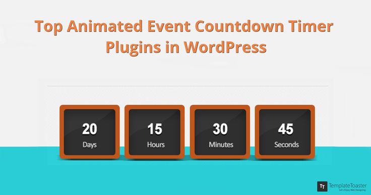 Top Animated Event Countdown Timer Plugins in WordPress // #WordPress