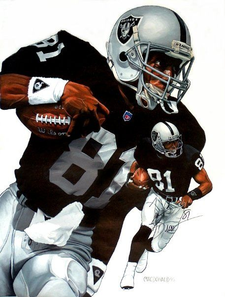 463 best nfl art oakland raiders images on pinterest sports art raiders tim brown 1995 by alex macdonald voltagebd Image collections