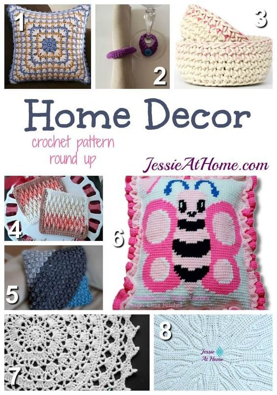 Home Decor - free crochet pattern round up from Jessie At Home:
