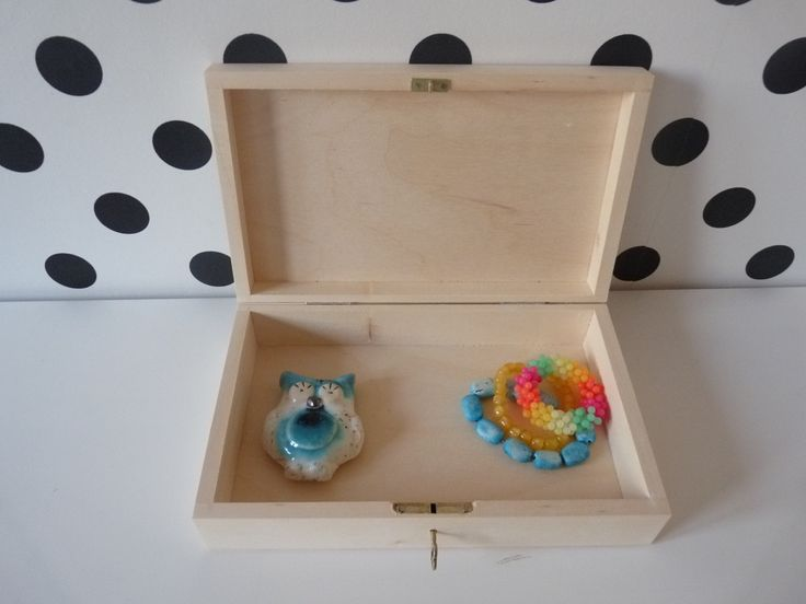 Wooden box with key for DIY projects / feel free to visit our nkcraftstudio shop on Etsy.com ;)