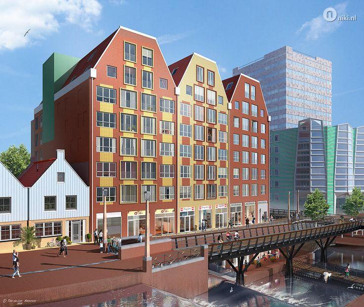 Nieuwbouw Zaandam, Zaandam West, Noord-Holland toekomstige woningen Kop Noordsche Bos Niki.nl