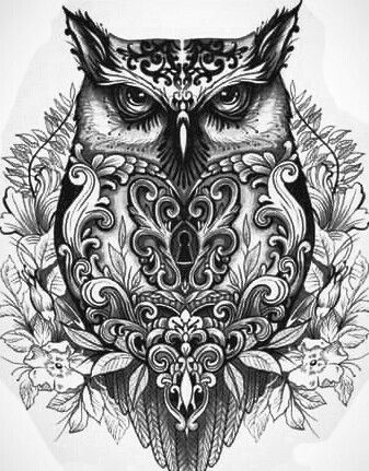 tattoo owl coloring pages - photo#25