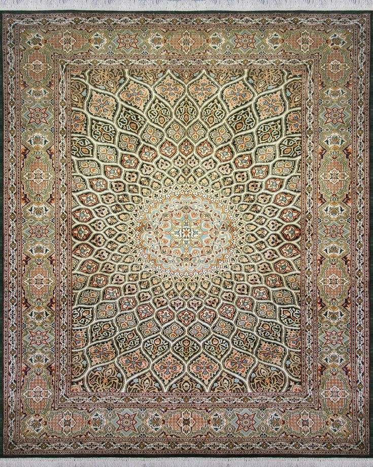 Ceiling | Hali Rugs - Made from 100% Cocoon Silk with a cotton warp and weft