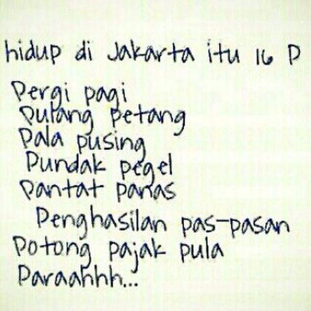 Hidup di Jakarta itu 16 P