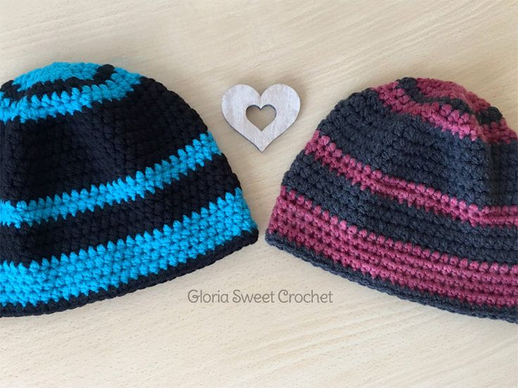 """Cappelli invernali """"Romeo e Giulietta"""", per uomo e donna, realizzati a uncinetto. di GloriaSweetCrochet su Etsy https://www.etsy.com/it/listing/481546047/cappelli-invernali-romeo-e-giulietta-per"""