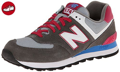 New Balance 574 Mädchen Sneakers, Grau (CPW GREY/PINK), 36 EU / 3.5 UK (*Partner-Link)