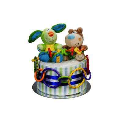 Play Mates Nappy Gift Cake - Cutesy soft toys for the little ones to cuddle