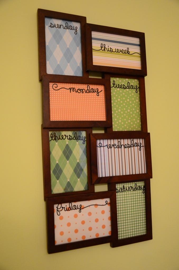 Best 25 picture frame calendar ideas on pinterest dry for Paint planner