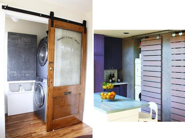 Diy Barn Style Bathroom Door: Sliding Barn Doors, Door Handles And Bunk Bed Curtains On