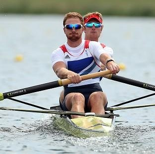 Will Satch, left, and George Nash won bronze in the men's pair