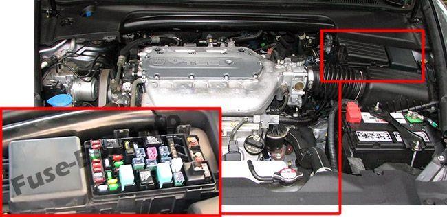 Acura TL (UA6/UA7; 2004, 2005, 2006, 2007, 2008) Fuse box location   Acura  tl, Acura, Fuse box   Acura Tl Fuse Box Diagram      Pinterest