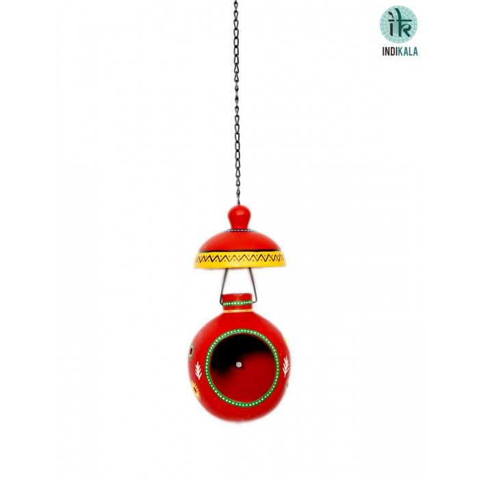 Name : Hanging Bird House Price : Rs 499 Buy Now at : http://www.indikala.com/containers/bird-house.html #luxury #ethnic #homedecor
