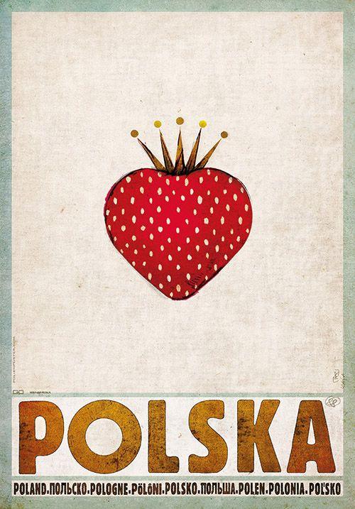Strawbery, Poland, Polish Promotion Poster