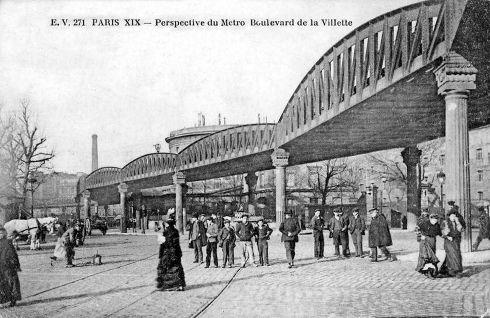 Station de métro Jaurès. On descendait là et on remontait la rue Secrétan.