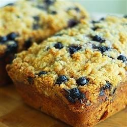"Blueberry Zucchini Bread | ""I've made this a few times and it's always great. It freezes well too; so it's great to make in the summer and freeze it for a winter treat."""