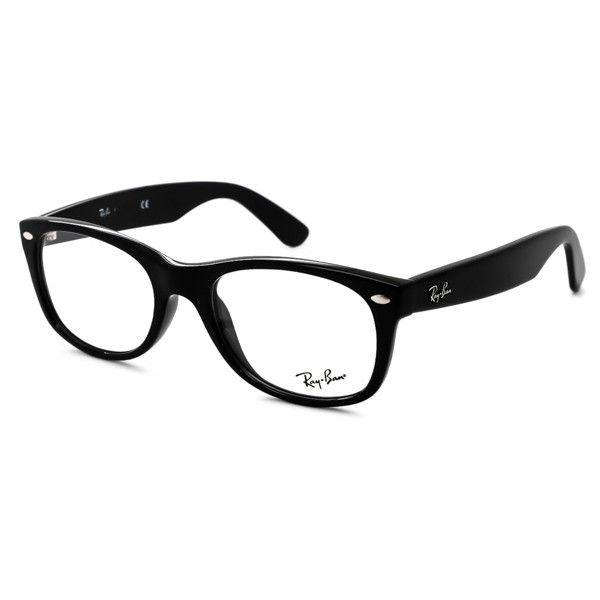 Ray-Ban RX5184 New Wayfarer 2000 Eyeglasses ($110) ❤ liked on Polyvore featuring accessories, eyewear, eyeglasses, glasses, sunglasses, shiny black, ray ban eyewear, wayfarer sunglasses, lens glasses and black wayfarer