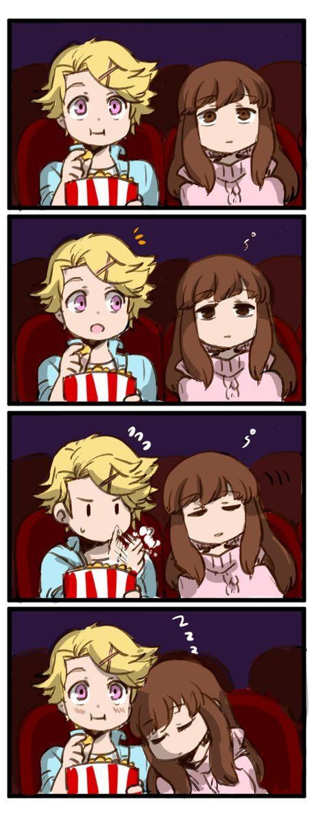 I totally remember this scene from the game. Yoosung makes sure to keep his shoulder clean for MC