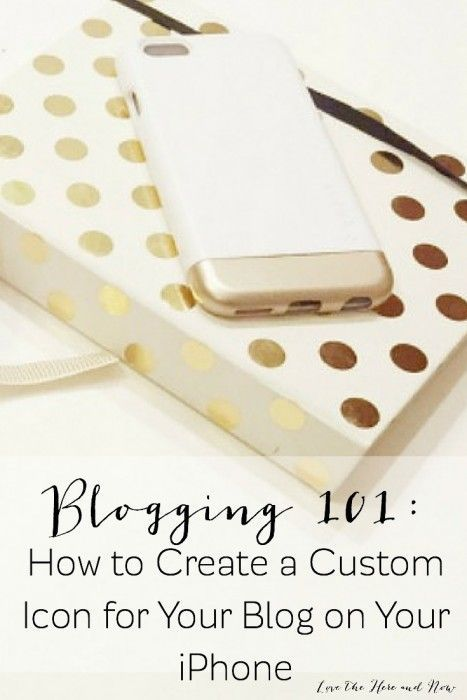 Creating a custom icon for your blog on your iPhone