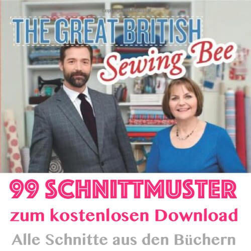 Great British Sewing Bee – Alle Schnitte aus den Büchern als gratis PDF-Download