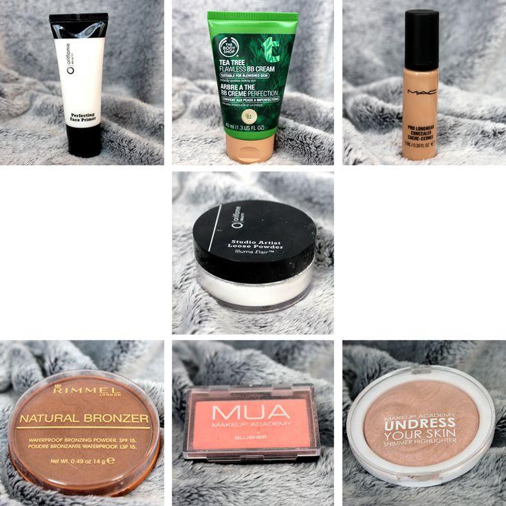 Gezichts producten gebruikt voor de look Blue Ocean op www.beautyflamenatasja.nl #products #makeup #Oriflame #MUA #Rimmel #thebodyshop #mac