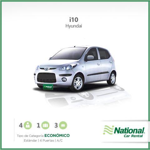¿Buscas una un coche #Económico?  te invitamos a viajar con nosotros en un #i10 y vivir la #ExperienciaNational   Reserva ahora... http://bit.ly/1fAKXDe  ¡Déjanos llevarte!