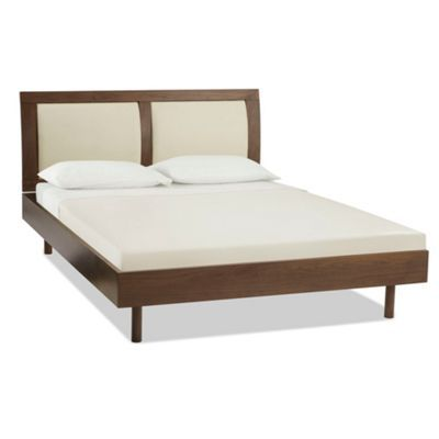 Walnut finished 'Monza' bed with ivory bonded leather panels at debenhams.com