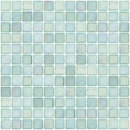 1 Inch Iridescent Sea Green Glass Tile