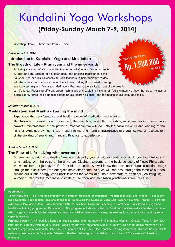 Kundalini Yoga Workshop March 7-9, 2014 in Jakarta