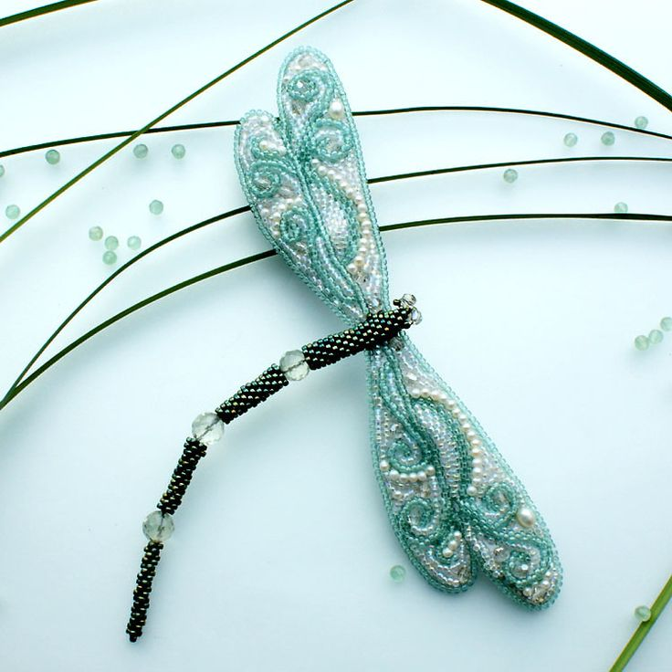 beautiful beaded dragonfly