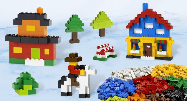 6177 LEGO® Basic Bricks Deluxe - I'm gonna use these pieces to create my own Lego Sunglasses!
