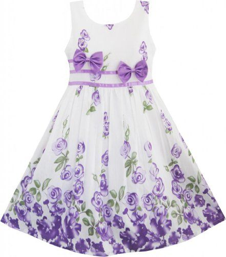 Sunny Fashion Girls Dress Purple Rose Flower Double Bow Tie Party 7-8 Sunny Fashion http://www.amazon.com/dp/B00K0U55VO/ref=cm_sw_r_pi_dp_1tQLvb18WJ1MK