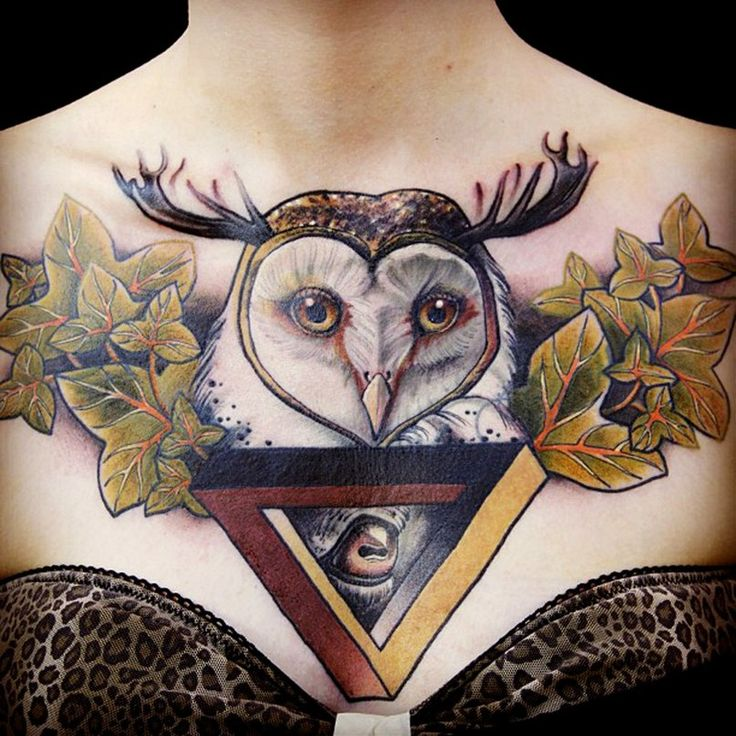 100 Best Images About Ladies Chest Tattoos On Pinterest