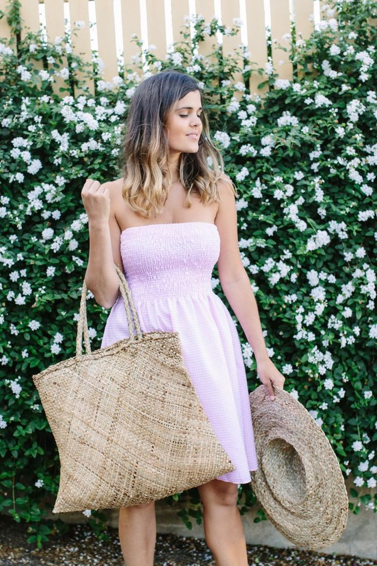 Simply Sweet DIY Sundress | Try sewing this cute strapless dress for your next summer sewing project!