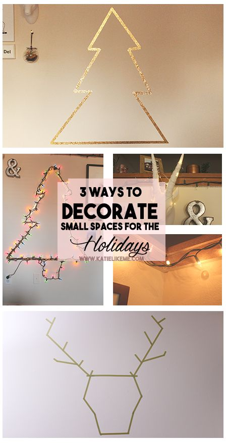 3 wats to Decorate a Small Space for the Holidays #home #decor #rental