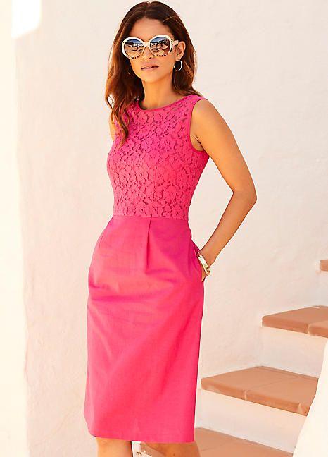 1a0b96bc3a Kaleidoscope Lace   Linen Mix Dress