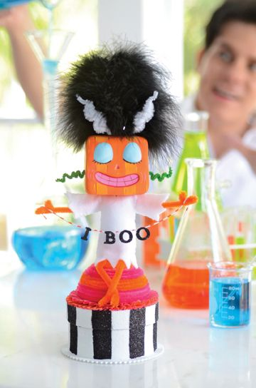 The Bride of Franky Glitterstein. Project from Glitterville's Handmade Halloween.