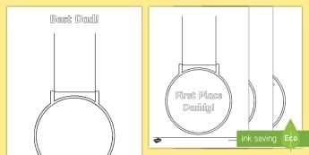 Design a Father's Day Medal Activity Sheet - dad, daddy, father, special man, pa, pop, worksheet