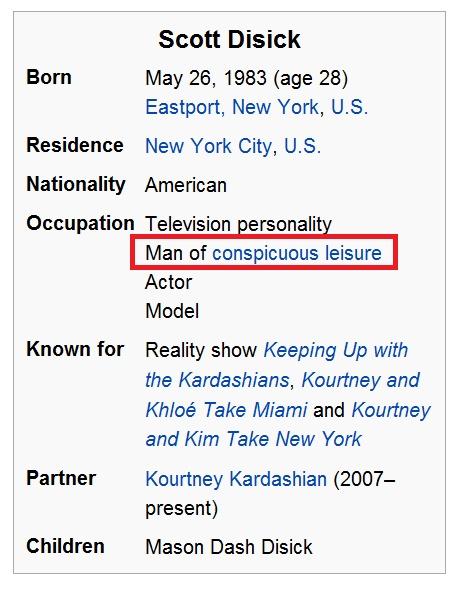 Scott Disicks Wikipedia Page lol