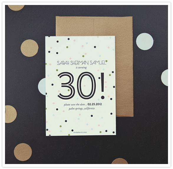 30th birthday invites