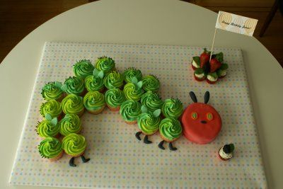 Hungry Little Caterpillar cupcakes.