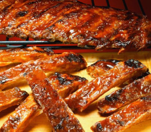 BBQ Pork Ribs. Cooked this way they are the best ribs on earth. Cook these ribs for hubby and he will do anything you ask. Keep some in the freezer if needed for a future bribe. Warning these are addictive.
