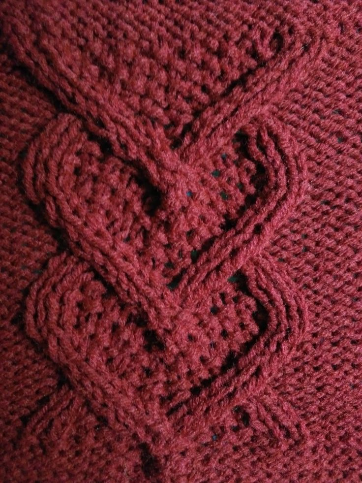Knit this cable heart panel square 8 SnugglebuggKnits