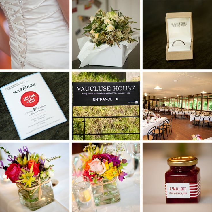 Vaucluse House wedding details