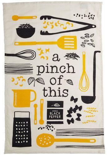 kitchen, art, tea towel, recipe, illustration, utensils, food, cooking, drawing, print