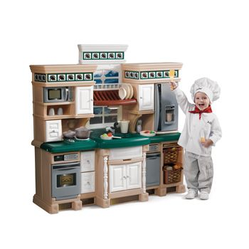 step2 deluxe play kitchen with 38 piece accessory set (2+ years
